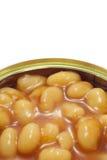 Plan rapproché cuit au four d'haricots. Photo stock