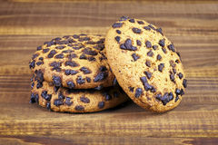 Plan rapproché cuit au four de biscuits Photographie stock