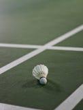 Plan rapproché détaillé d'un volant de badminton Photo stock