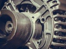 Plan rapproché détaillé de moteur de machine de générateur d'alternateur photos stock