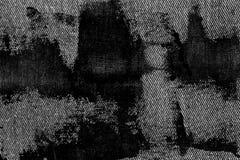 Plan rapproché détaillé sale grunge de denim sale vide Jeans gris-foncé de vintage, bons pour le fond photographie stock libre de droits