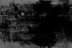 Plan rapproché détaillé sale grunge de denim sale vide Jeans gris-foncé de vintage, bons pour le fond photo stock