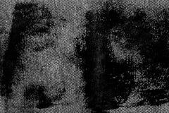 Plan rapproché détaillé sale grunge de denim sale vide Jeans gris-foncé de vintage, bons pour le fond image stock