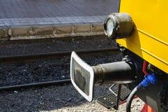 Plan rapproché d'amortisseur de train Photographie stock libre de droits