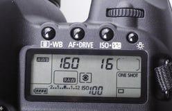 Plan rapproché d'appareil-photo de DSLR. photo libre de droits
