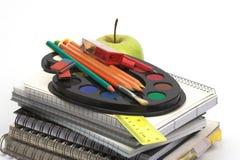 Plan rapproché d'approvisionnements d'école Photographie stock