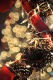 Plan rapproché d'arbre de Noël photo stock