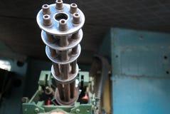 Plan rapproché d'arme à feu de guerre de vintage sur le réservoir soviétique dans Saigon Photo stock