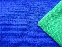 Plan rapproché d'armure verte et bleue de vêtements Photographie stock libre de droits