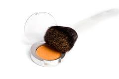Plan rapproché d'astuce de brosse de powderon d'or Photos stock