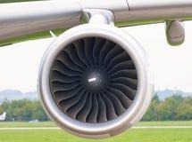 Plan rapproché d'avions de moteur à réaction Image stock