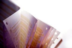 Plan rapproché d'enroulement de papier d'imprimante photographie stock