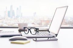 Plan rapproché d'espace de travail Photo libre de droits