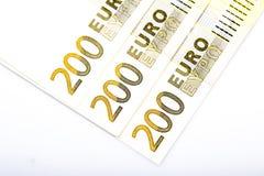 Plan rapproché d'euro billets de banque Photos libres de droits