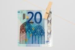 20 euro Bill Photo stock