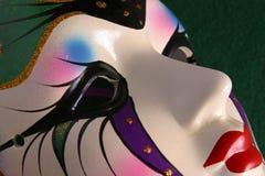 Plan rapproché d'extrémité de masque de mardi gras Photographie stock libre de droits