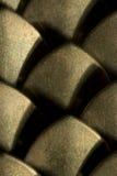 Plan rapproché d'extrémité de plaque en laiton Photo stock