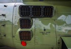 Plan rapproché d'hélicoptère de combat image stock