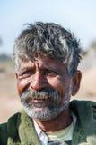 Plan rapproché d'homme du Ràjasthàn sans turban Photographie stock