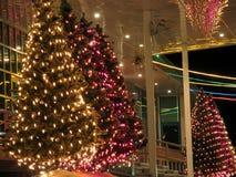Plan rapproché d'immeuble de bureaux de porche. Décorations de Noël. Image libre de droits