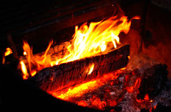 Plan rapproché d'incendie de camp Photo stock