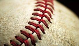 Plan rapproché d'instruction-macro de base-ball Images stock