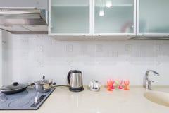Plan rapproché d'intérieur de cuisine Photo libre de droits