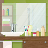 Plan rapproché d'intérieur de salle de bains illustration stock