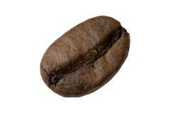 Plan rapproché d'isolement de grain de café Photographie stock