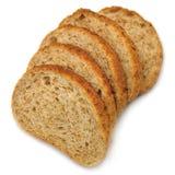 Plan rapproché d'isolement par pile découpé en tranches de parts de pain photos libres de droits