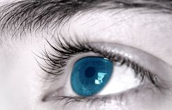 Plan rapproché d'oeil Image libre de droits