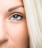 Plan rapproché d'oeil de femme Image libre de droits