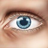 Plan rapproché d'oeil humain Photographie stock