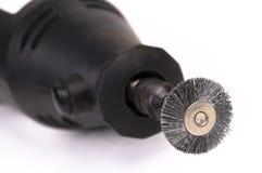 Plan rapproché d'outil de polissage circulaire électrique photographie stock