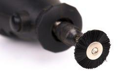 Plan rapproché d'outil de polissage circulaire électrique photo libre de droits