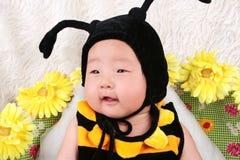 Plan rapproché d'un bébé Image stock