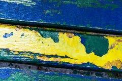Plan rapproché d'un banc, regard d'en haut Approprié à la texture, arrière Photo stock