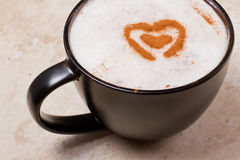 Amour de cappuccino Photos libres de droits
