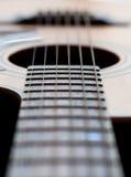 Plan rapproché d'un cou de guitare Images stock