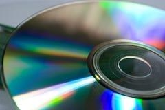 Plan rapproché d'un disque compact Photos stock