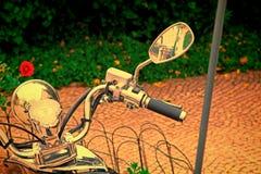 Plan rapproché d'un groupe d'instrument du ` s de moto photographie stock libre de droits