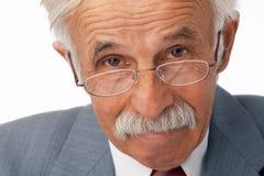 Plan rapproché d'un homme d'affaires plus âgé. Photographie stock