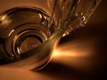 Plan rapproché d'un III en verre photo stock