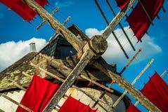 Plan rapproché d'un moulin à vent Photos stock