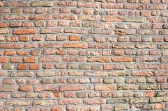 Plan rapproché d'un mur de briques sans joint de maçonnerie Photographie stock