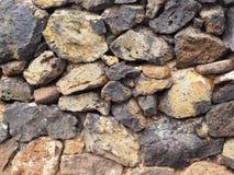 Plan rapproché d'un mur de pierres sèches Photo stock