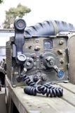 Radio militaire sur un vecle Image libre de droits