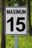 Plan rapproché d'un signe du maximum 15 Photographie stock