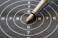Plan rapproché d'un stylo-plume Images libres de droits