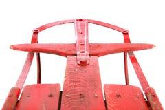 Plan rapproché d'un traîneau rouge antique Photo libre de droits